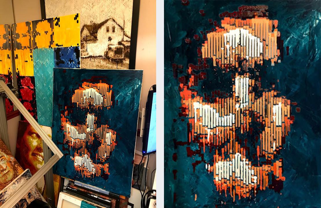 obras de arte pintadas por un robot